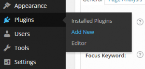 """Add New"" location underneath Plugins"