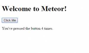Meteor confirmation page on a basic install